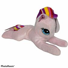 Buy NWT Fuzzy Friends Pink Pony Horse Plush Rainbow Stripes Stuffed Animal 7.5""