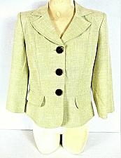 Buy MISS DORBY womens Sz 8 3/4 sleeve light green RAYON blend button up jacket (Y)