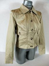 Buy ZOE D womens Sz 4 L/S taupe 4 POCKET button down FULLY LINED jacket (A4)