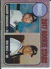 Buy Dansby Swanson 2017 Topps Heritage Rookie Stars Purple Chrome Refractor