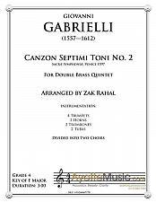 Buy Gabrielli - Canzon Septini Toni, No. 2