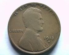 Buy 1913-S LINCOLN CENT PENNY GOOD / VERY GOOD G/VG NICE ORIGINAL COIN BOBS COINS
