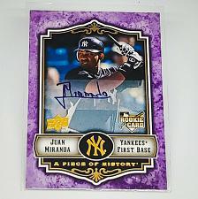 Buy MLB JUAN MIRANDA NEW YORK YANKEES AUTOGRAPHED 2009 UPPER DECK RC MINT