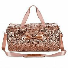 Buy New Disney Parks Loungefly Rose Gold Sequined Minnie Ear Duffel Free Shipping