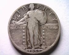 Buy 1930 STANDING LIBERTY QUARTER VERY GOOD /FINE VG/F NICE ORIGINAL COIN BOBS COINS