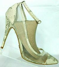 Buy Victoria Secret Womens Beige Snake Print Mesh Stiletto Heels Size 11 B