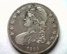 Buy 1834 BUST HALF DOLLAR O.106 VERY FINE+ VF+ NICE ORIGINAL COIN BOBS COINS