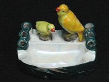 Buy Vintage Porcelain Bird and Baby Figural Ashtray Snuffer Japan Lustreware