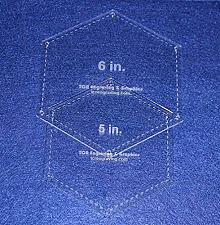 """Buy Hexagon Templates. 5"""", 6"""" - Clear W/guide Line Holes 1/8"""""""