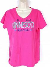 Buy Minnesota United States Women's T-Shirt Large Short Sleeve Pink