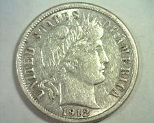 Buy 1912-D BARBER DIME ABOUT UNCIRCULATED AU NICE ORIGINAL COIN BOBS COINS FAST SHIP