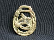Buy Vintage SMALL Horse Brass Medallion Harness Horse Head Framed by Lucky Horseshoe
