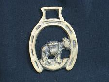 Buy Vintage Donkey Mule Burro Horse Brass Medallion Harness Antique Tack
