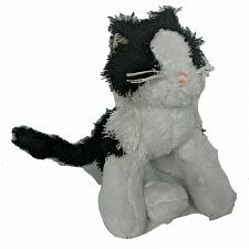 Buy Ganz Webkinz Lil Kinz Black White Cat Stuffed Animal HS016 No Code 9.5""