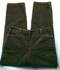 Buy Charter Club Womens Katherine Fit Corduroy Tapered Pants 8P Solid Brown Stretch