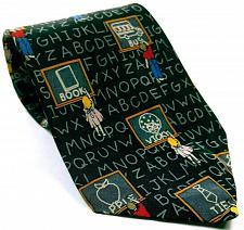Buy School Chalk Board Student Alphabet Men's Dress Necktie 100% Silk Novelty