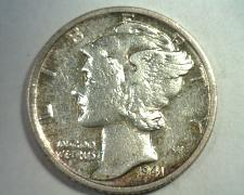 Buy 1941-S MERCURY DIME ABOUT UNCIRCULATED AU NICE ORIGINAL COIN BOBS COIN FAST SHIP