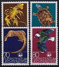 Buy LIECHTENSTEIN [1976] MiNr 0644-47 ( **/mnh ) Tiere