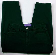 Buy NYDJ Women's Capri Jeans Rhinestone Grommet Size 6 Stretch Dark Wash
