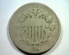 Buy 1869 SHIELD NICKEL GOOD+ G+ NICE ORIGINAL COIN FROM BOBS COINS FAST SHIPMENT