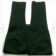 Buy WHBM Dress Pants Size 4 Solid Black Pull On Side Zip Button Ankle Stretch
