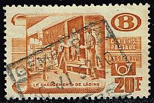 Buy Belgium #Q335 Loading Parcels; Used (0.25) (3Stars) |BELQ335-02XBC