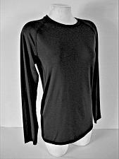 Buy SKECHERS SPORT womens Small L/S black ATHLETIC mesh insert stretch top (P)