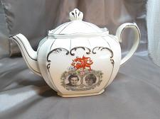 Buy Sadler Cube Tea Pot Silver Gilt Prince Charles Lady Diana Wedding Commemorative