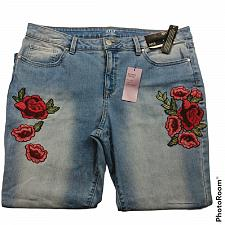 Buy NWT Ana A New Approach Skinny Ankle Mid Rise Jeans 32/14 Embroidered Roses Denim