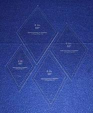 "Buy Diamond Templates 5"", 6"", 7"", 8"" - Clear 1/8"" 60 Degree"