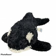 "Buy Sea World Shamu Black White Killer Whale Orca Stuffed Animal 2017 7.75"""