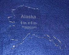 """Buy State of Alaska Template 6"""" X 5"""" - Clear ~1/4"""" Thick Acrylic"""