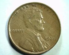 Buy 1931 LINCOLN CENT PENNY CHOICE ABOUT UNCIRCULATED+ CH. AU+ NICE ORIGINAL COIN