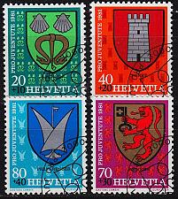 Buy SCHWEIZ SWITZERLAND [1981] MiNr 1210-13 ( O/used ) Wappen