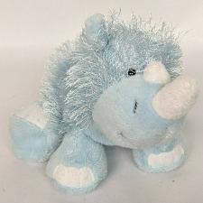 "Buy Ganz Webkinz Blue Rhino Long Hair Plush Stuffed Animal HM196 No Code 12"""