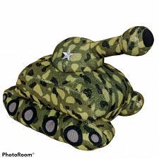 "Buy Kellytoy Green Army Camouflage Tank Plush Stuffed Animal 2016 11"""