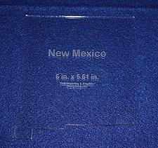"""Buy State of New Mexico Template 6"""" X 5.61"""" - Clear ~1/4"""" Thick Acrylic"""