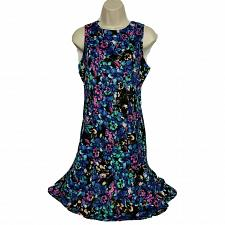 Buy The Limited Womens Bodycon Dress Size 2 Floral Blue Pink Boat Neck Sleeveless