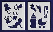 """Buy Baby-Infant Toys Stencils -Mylar 2 Pieces of 14 Mil 8"""" X 10"""" - Painting /Crafts/"""