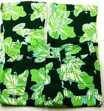 Buy New York & Company Capri Pants Size 10 Black & Green Floral