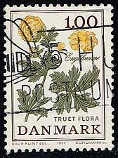Buy Denmark #609 Globe Flower; Used (3Stars) |DEN0609-01XBC