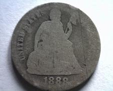 Buy 1888 SEATED LIBERTY DIME ABOUT GOOD AG ORIGINAL COIN BOBS COIN FAST SHIPMENT