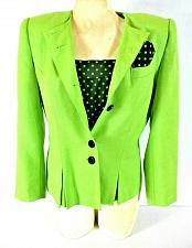 Buy Kasper womens 10P L/S BLACK TANK top button up green jacket 2 piece set (N)PMTD