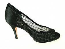 Buy Nina Black Rhinestone Silver Glitter Dress Pumps Heels Shoes Women's 8 M (SW2)