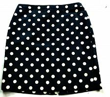 Buy Ann Taylor Loft Petites A Line Skirt Size 6P Black White Polka Dot Back Zip