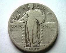 Buy 1928-S STANDING LIBERTY QUARTER GOOD / VERY GOOD G/VG NICE ORIGINAL COIN