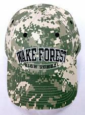 Buy Wake Forest High School North Carolina Men's Camo Strapback Hat Adjustable