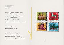 Buy SCHWEIZ SWITZERLAND [1983] MiNr 1260-63 ( FDC ) [01] Pro Juventute PTT Faltblatt 203