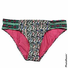 Buy NWT Ella Moss Mazatlan Reversible Retro Bikini Swimsuit Bottom XS Multicolor