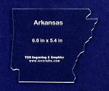 """Buy State of Arkansas Template 6"""" X 5.4"""" - Clear 1/4"""" Thick Acrylic"""